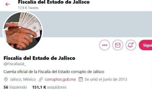 Hackean cuenta de Twitter de la Fiscalía de Jalisco